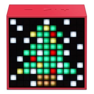 Divoom Divoom TimeBox Mini Pixel Art Smart Kırmızı Bluetooth Hoparlör Kırmızı